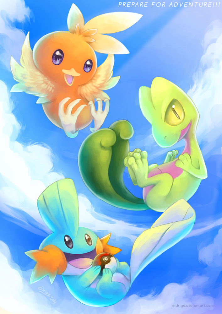 Hoenn Starters by eldrige on DeviantArt