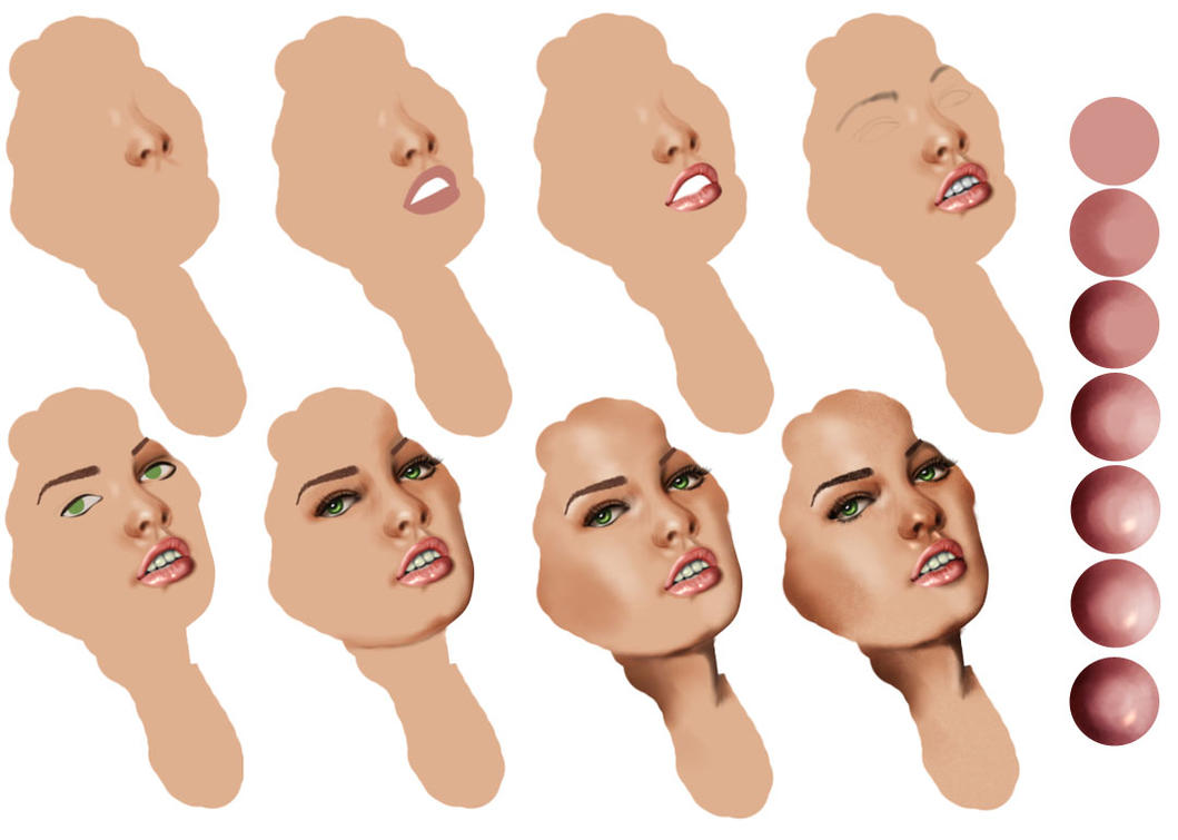 how to draw a realistic face tutorial
