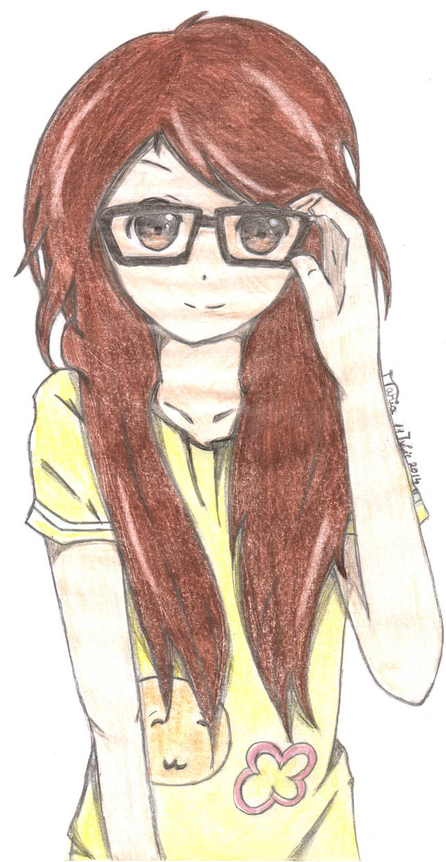 Cute Anime Girl With Glasses By Sasaki Chan2000 On Deviantart