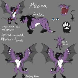 Mezura ref sheet by TaintedGrace