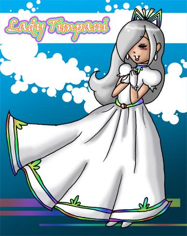 Paper Mario - Lady Timpani by jewelschan on DeviantArt