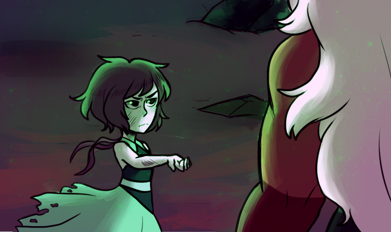 This is one is a redraw from that scene, man i loved it When Jasper and Lapis formed Malachite i was like ''OOOHHHHHHH'' i didnt upload it cause i forgot....it   tumblr post:  peanutbulle...