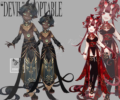 closed: [devil] adoptable |auction| 24 hrs