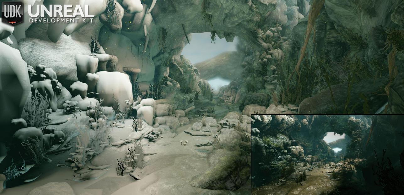 Ancient Cave - UDK by ninjitsunami