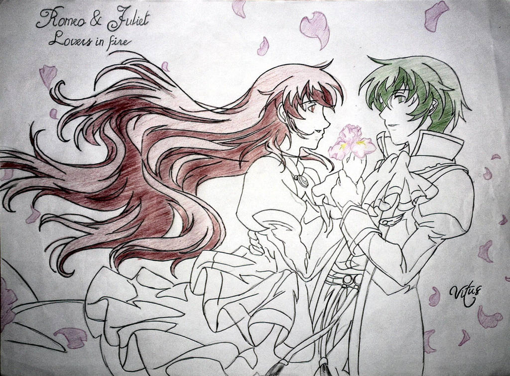 Romeo and Juliet from the anime RomeoXJuliet by BlassReiter