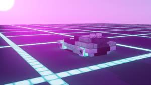 Synthwave DeLorean