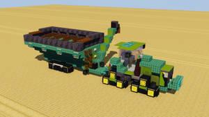 John Deere Tractor with Unverferth Grain Cart