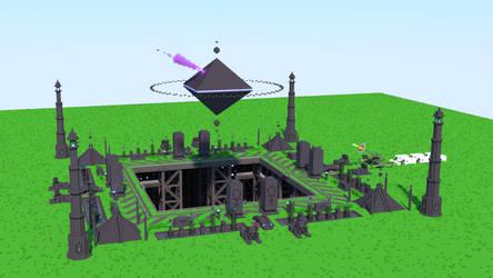 Truck-Mounted Railgun and Alien Temple Complex