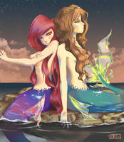Mermaids. by aridesuu