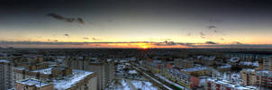 Sunset over Minsk