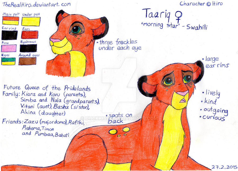 Taariq Ref Sheet by TheRealHiro