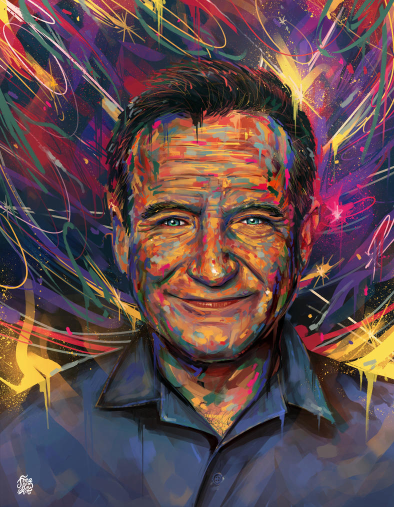 500. Robin Williams by Freeflow-Art