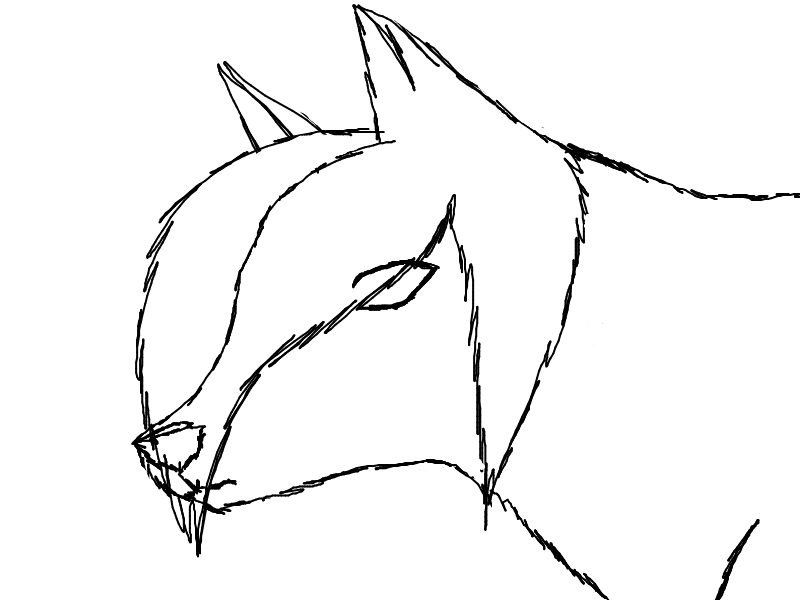 Emo Wolf Lineart by Ge...