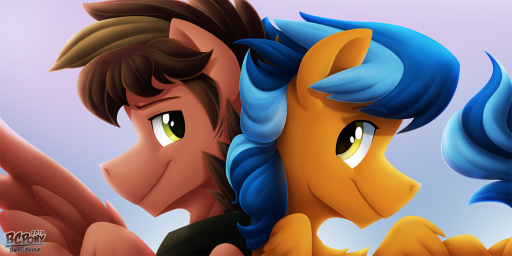 SwiftDust and Lightning Rider by BuizelCream