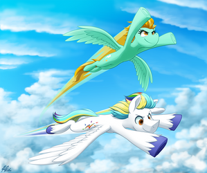 -Commission- Skyrockets by BuizelCream