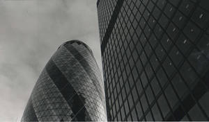 St Mary Axe and black building by shava50