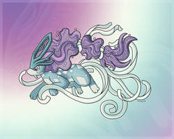 Mega Suicune by Ardengrail