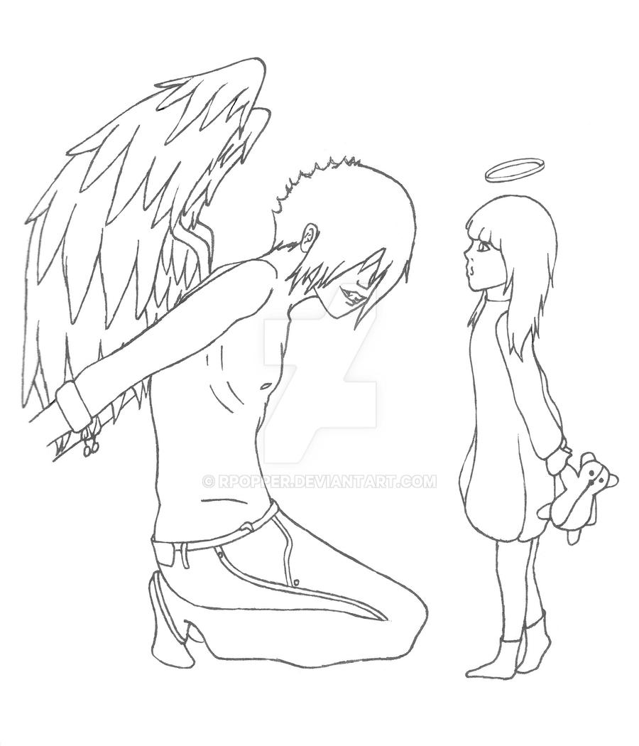 coloring pages of fallen angels - photo#39