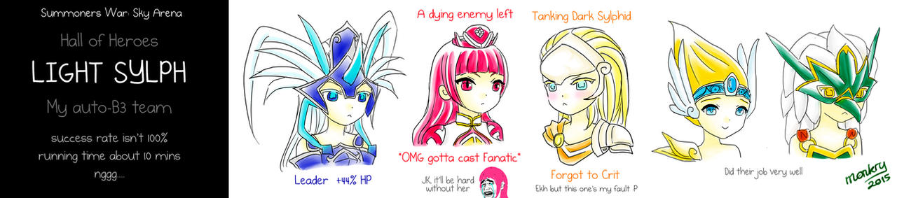 My Light-Sylph-HoH-B3 team ~Summoners War by monkry