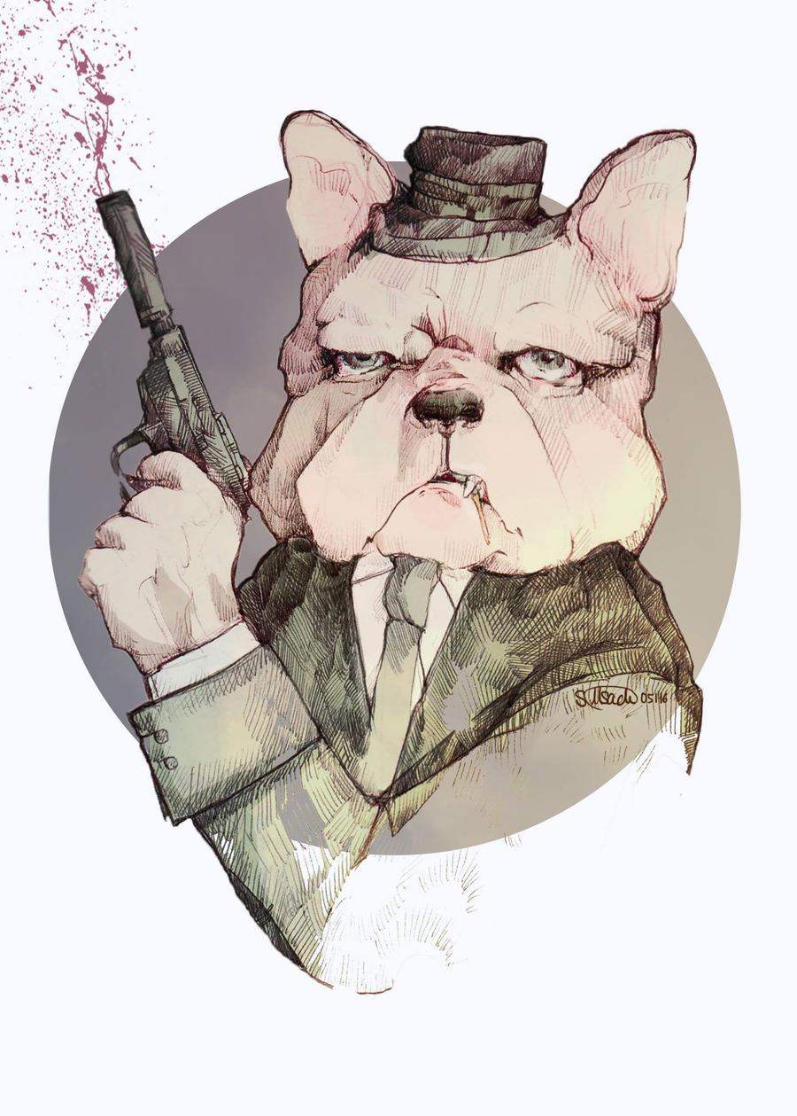 Bulldoge by raskina