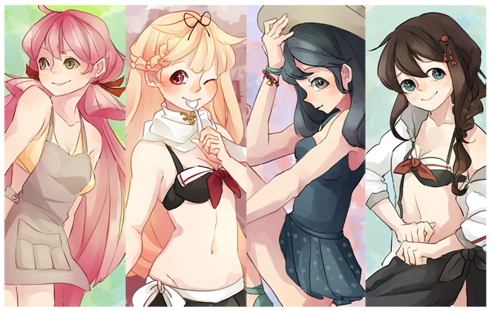Kantai Collection: Summer by soggy-cats