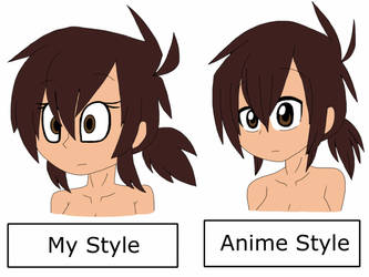 ::My Style VS Anime Style:: by TinyToxicWaste101