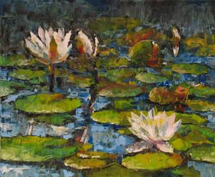 Three waterlilies by Silmariena