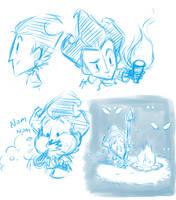 Don't Starve Sketch Dump by Ka-Star