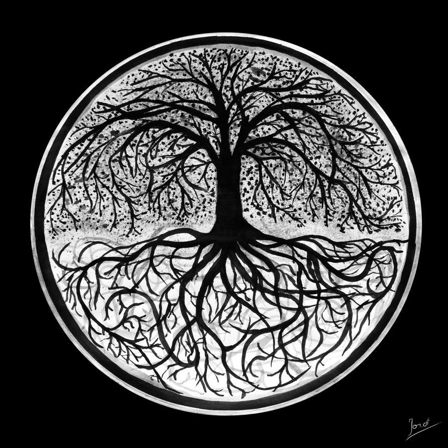 Un árbol se desplaza e intenta hablar ! Yggdrasil_by_fulgurer-d5jj2ug