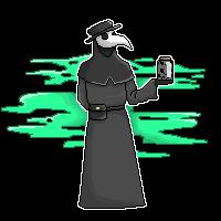 plague doctor pixel   F2U   version 2  by Mrs-Misty-Eyed