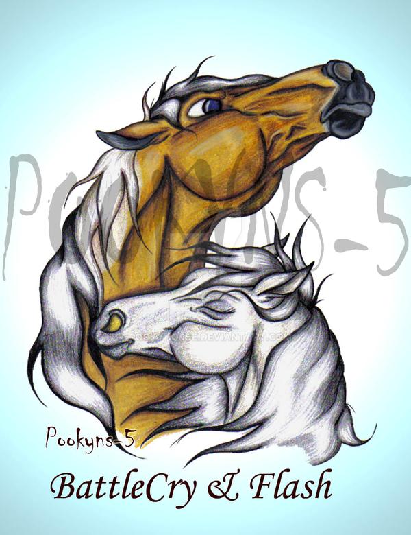 Battlecry and Flash hug by pookyhorse