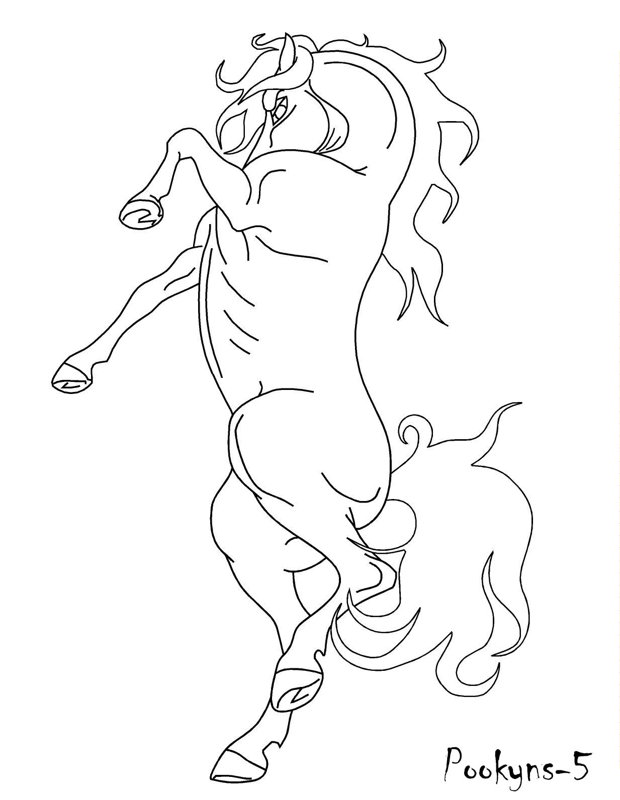 Horses Rearing Coloring Pages