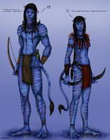 Daren and Kinktail 'navi' by pookyhorse