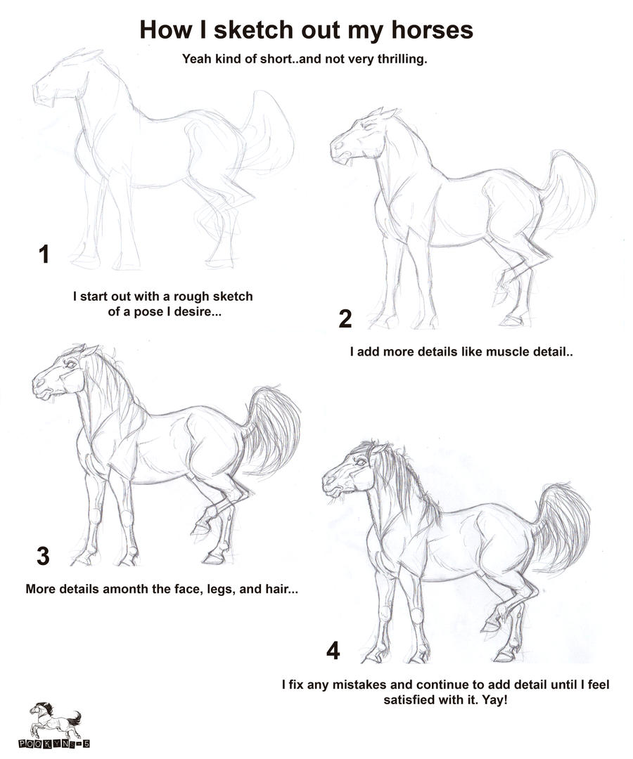 How I Draw Out My Horses By Pookyhorse Basic Horse Hoof Tutorial By  Pookyhorse On Deviantart