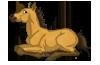 Buckskin foal stamp by pookyhorse