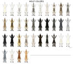 Wolf pelt colors