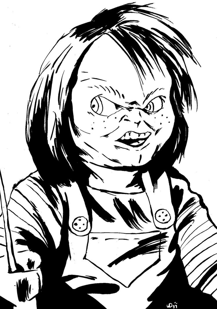 Chucky Clipart Black And White: Chucky By Narcisticthinker On DeviantArt