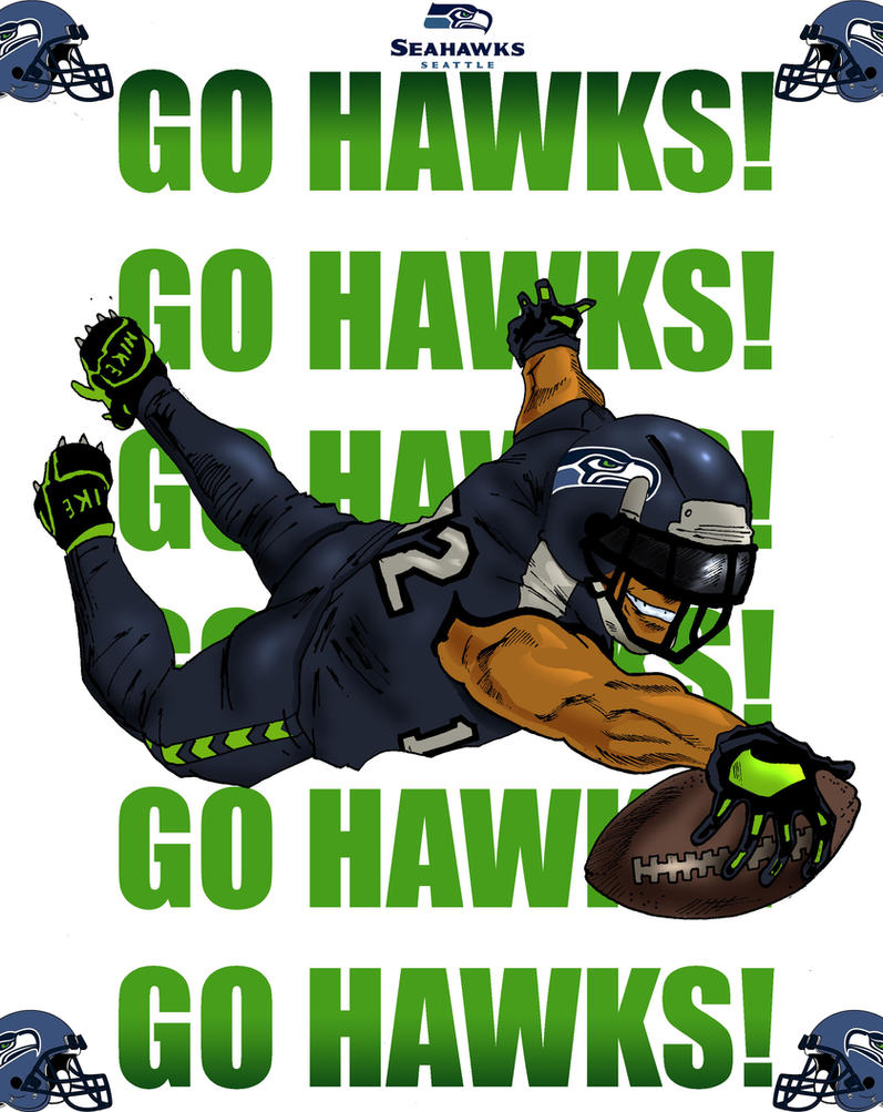 Seahawks fan art by Narcisticthinker