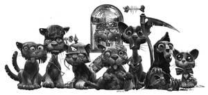 lots of cats by DanielGrzeszkiewicz
