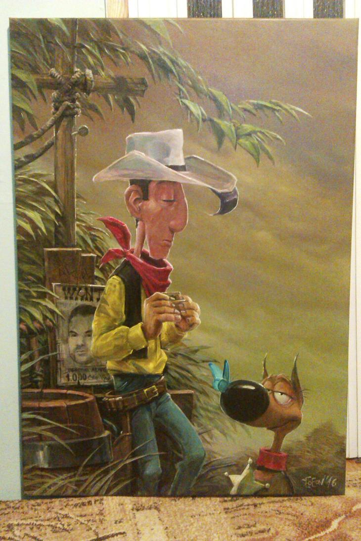 Lucky Luke w.i.p. by DanielGrzeszkiewicz