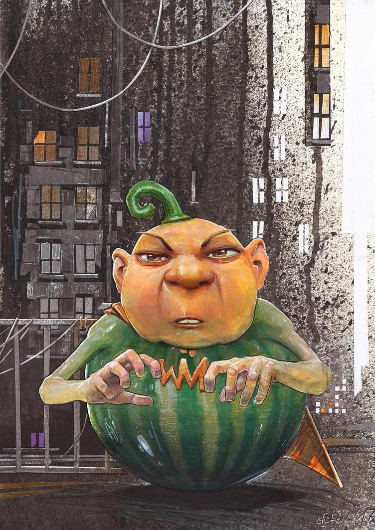 Watermelonman by DanielGrzeszkiewicz