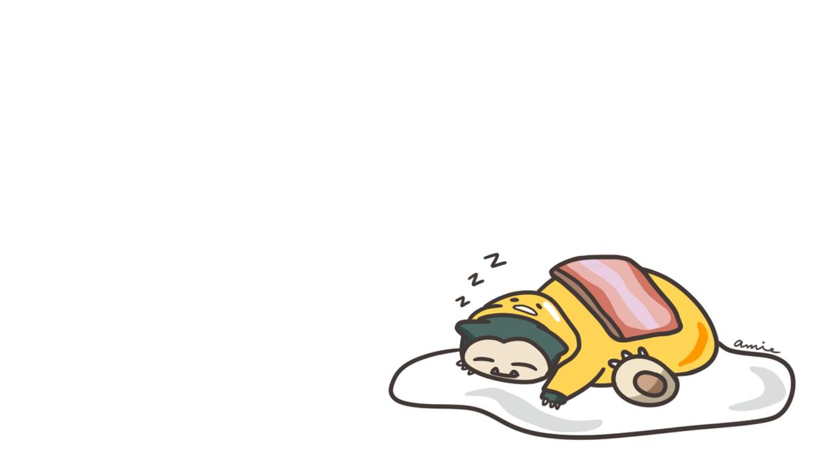 Snorlax Gudetama by cutie-karin