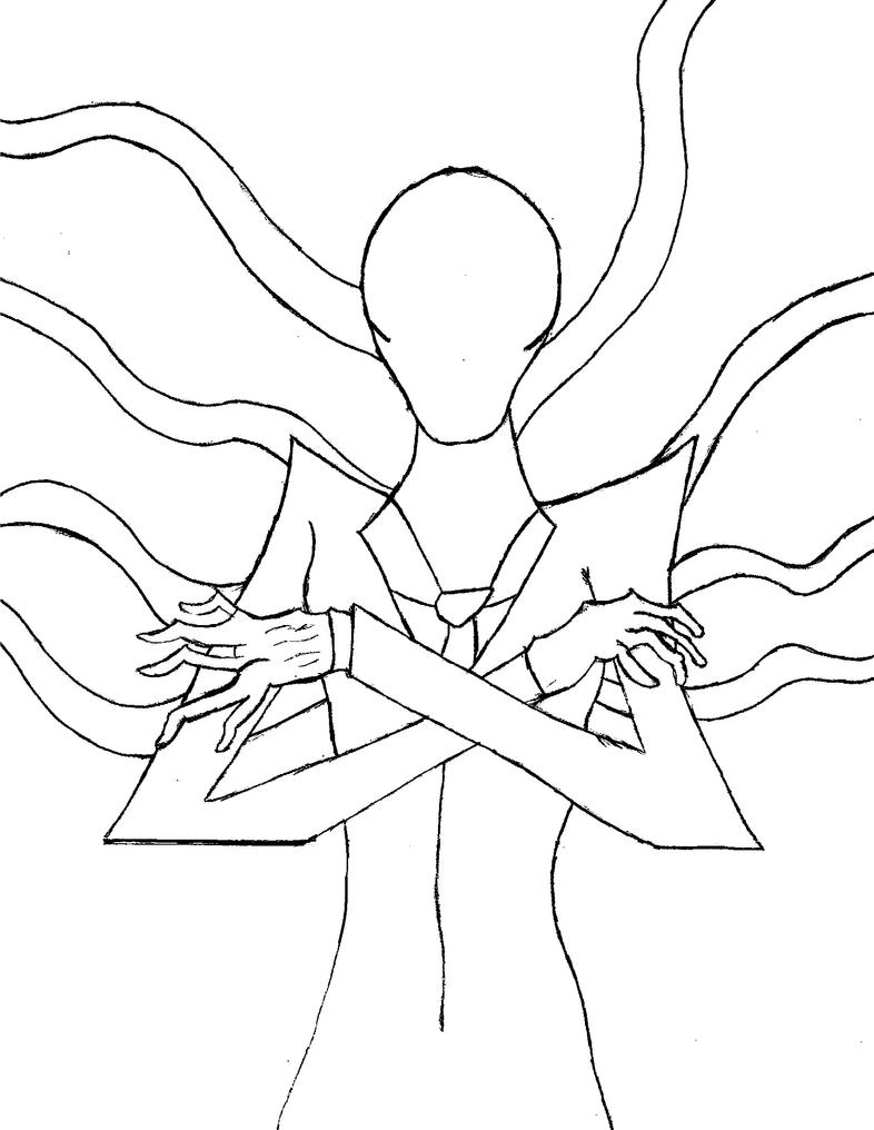 Easy slender man coloring pages for Slender man coloring pages