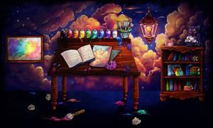 Dreamscape Art Studio by Moondustdreams