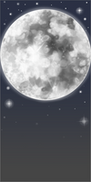Silver Moon and Stars