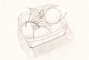 Basket of mandarines