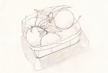 Basket of mandarines by jaimeiniesta