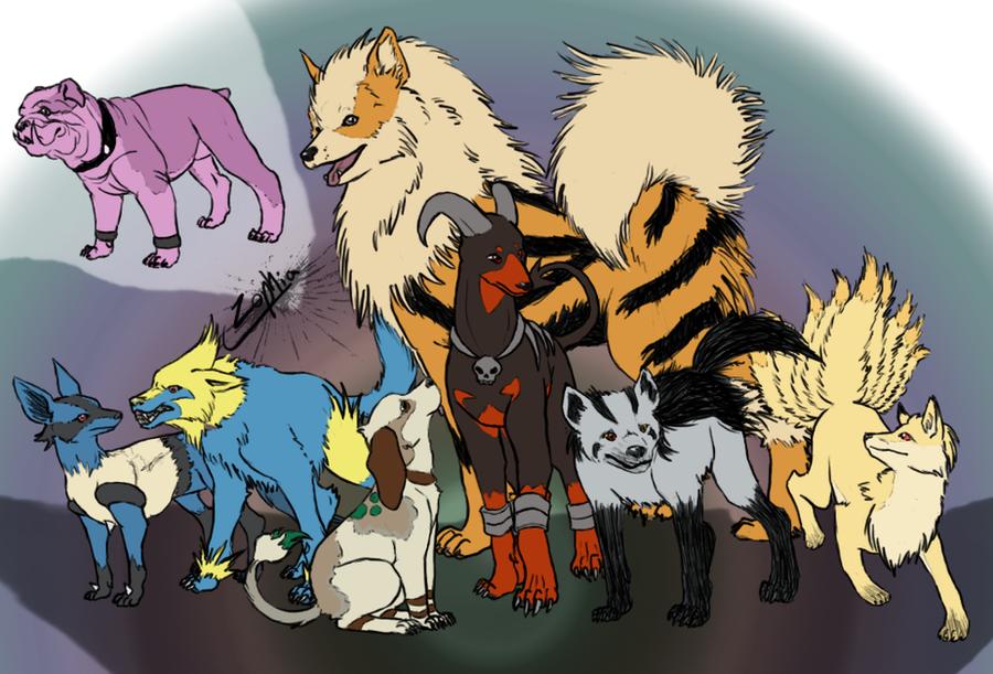 canine pokemon by zyarrihl on deviantart
