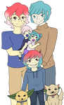 Family portrait (Collab) by TheLordOfTheDorks