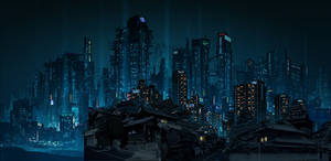 Dystopia matte painting